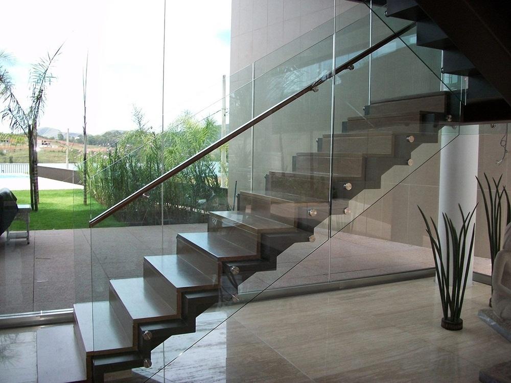 corrimão inox vidro